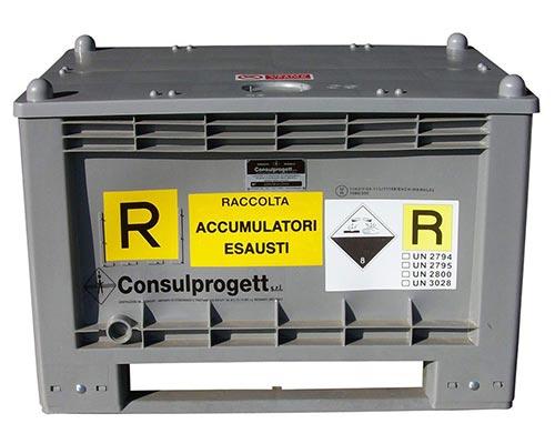 0088 Cassa omologata ONU ADR per accumulatori